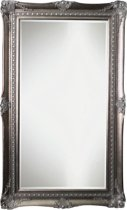 Qweens - Spiegel - Sara- antiek zilver - buitenmaten breed 84 cm x hoog 184 cm.