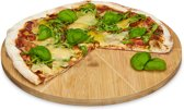 relaxdays - pizzabord bamboe 33 cm - houten pizza bord - serveerbord - plateau