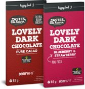 Body & Fit Food Smart Chocolate - stevia extract - 1 doos - Strawberry & Blueberry
