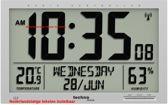 TECHNOLINE WS8013 JUMBO-klok / wekker (27 x 36,9 cm), radio-controlled, met weergave temperatuur en luchtvochtigheid