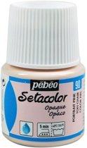 Pébéo Setacolor Lichtroze / Huidskleur Textielverf - 45ml textielverf voor donkere en lichte stoffen