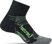 Feetures - Elite Merino Cushion Quarter - Hardloopsokken - Sportsokken - Zwart - S