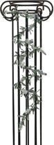 Europalms kunstplant Bloeiende bloemen guirlande - slinger - wit - 180 cm
