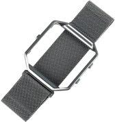 Metalen armband voor Fitbit Blaze met frame magneet slot - Zilver