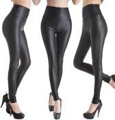 Leather Look Legging – Maat M – Leather Zwart