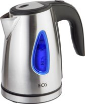 ELECTRO CENTER RK1040 waterkoker, 1 liter, RVS, compact design met blauw backlight watervenster