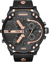 Diesel DZ7350 Mr. Daddy - Horloge - Zwart - Leer - 57 mm