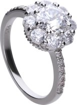 Diamonfire - Zilveren ring met steen Maat 17.5 - Bridal - Zirkonia