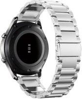 YONO Metalen Band Zilver geschikt voor Samsung Gear S3 en Galaxy Watch 46mm – Vervangende Schakel Armband