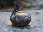 Grafdecoratie - urn -  bronzen beeld - Libelle - Bronzartes
