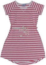 Ebbe - gestreepte jurk - korte mouwen - roze