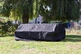 MaximaVida zwarte beschermhoes picknicktafel en tuintafel 150- 180 cm - Zware 600 gr/m2 uitvoering