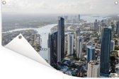 Uitzicht over stadshorizon van Gold Coast in het Australische Qeensland Tuinposter 90x60 cm - Tuindoek / Buitencanvas / Schilderijen voor buiten (tuin decoratie)