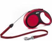 Flexi New Comfort Cord Hondenriem - Rood - S - 8 M