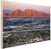 Las Vegas en omgeving Hout 160x120 cm - Foto print op Hout (Wanddecoratie) XXL / Groot formaat!