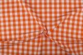 Boerenbont stof - 18mm geruite stof - Oranje - 40 meter