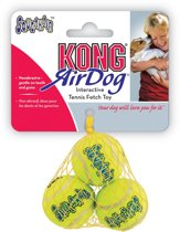 Kong Air Squeaker Tennisbal - Hondenspeelgoed - Ø6 cm