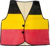 België Supporter Vestje - Volwassenen - Zwart/Geel/Rood