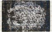 HSM Collection Vloerkleed - katoen - 230x160 cm - teal/beige