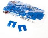 Uitvulplaatjes blauw (48 stuks) 4mm