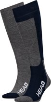 Head - Unisex 2-Pack Skie Kniehoogte Sokken Blauw Grijs - 43-46