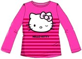 Hello Kitty shirt maat 122/128 fuchsia/streep