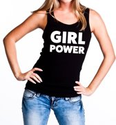 Girl Power tekst tanktop / mouwloos shirt zwart dames - dames singlet Girl Power M