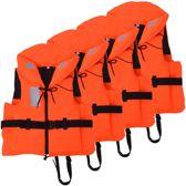 Reddingsvesten Oranje 60-70 kg 100N 4 STUKS voordeel - Zwemvesten - Reddingvest