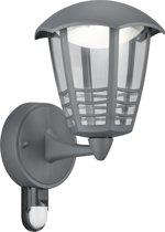 Trio Leuchten WL Mara - Buitenlamp met sensor/bewegingsmelder - 1 lichts - Ø 170 mm - antraciet