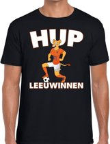 Nederland supporter t-shirt dameselftal Hup Leeuwinnen zwart heren - landen kleding L
