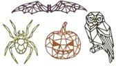 Sizzix Thinlits Die Set - 4PK Geo Halloween 664208 Tim Holtz