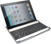 iPad 2/3/4 Bluetooth Keyboard Cover - zwarte toetsen  - aluminium - iPad 2/3/4 - zwarte toetsen