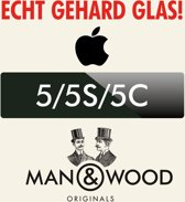 Man & Wood Screenprotector / Schermbescherming ECHT GEHARD GLAS (Tempered Glass) - iPhone 5/5S/5C