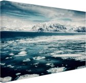 Uitzicht gletsjer Canvas 120x80 cm - Foto print op Canvas schilderij (Wanddecoratie)