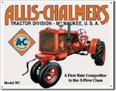 Allis- Chalmers Model WC Metalen wandbord 31,5 x 40,5 cm.