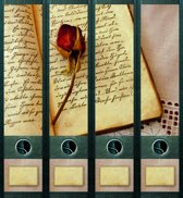 Rugetiket Book and Rose