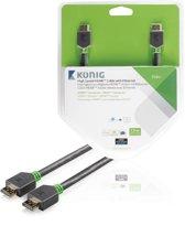 König High Speed HDMI-kabel met Ethernet HDMI-connector - HDMI-connector 7,50 m grijs