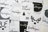 12 Luxe Kerstkaarten met gratis enveloppen - Kerst en Nieuwjaar Wenskaarten