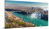 De Niagara watervallen in Noord-Amerika Aluminium 160x80 cm - Foto print op Aluminium (metaal wanddecoratie)