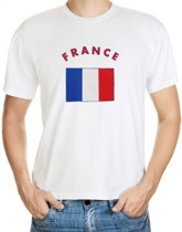 France t-shirt met vlag L