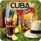 Metalen Onderzetters Cuba Libre