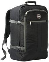 CabinMax Metz – Handbagage - Rugzak 44l– Schooltas - 55x40x20cm – Lichtgewicht - Zwart/Grijs (MZ BK/GY)