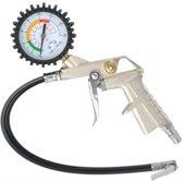 Compressor Bandenpomp Met Manometer - Autobanden Pomp Luchtpistool Met Drukmeter - Banden Blaaspistool - 16 Bar