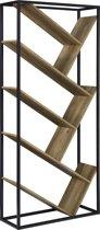 [en.casa]® Boekenkast - Schap - met planken