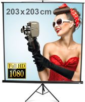 Portable Tripod Screen 203x203cm. | Home Theater Projector Screen | Portable Projectiescherm / Beamer Scherm | 203x203Cm|
