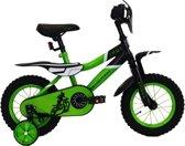 Troy Motorcross - Fiets - Jongens - Groen - 12 Inch