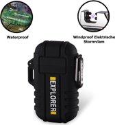 Plasmatix™ Plasma Aansteker Outdoor Explorer - Waterdicht -  Volledig Elektrisch - USB Oplaadbaar - Vuurwerk - Zwart