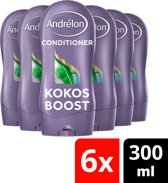 Andrélon Kokos Boost - 6 x 300 ml - Conditioner - Voordeelverpakking
