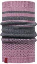 Knitted neckwarmer buff - mawi lilac shadow