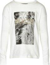 Creamie - meisjes shirt - model Emanuella cloud - wit